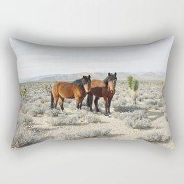 Desert Horse Pair Rectangular Pillow