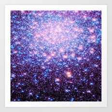 GaLaxY Stars : Pink Purple Blue Art Print