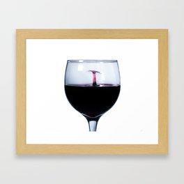 A Splash of Red Wine Framed Art Print
