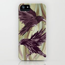 Odin's Ravens Print iPhone Case