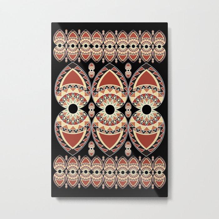 Ethnic petals. Pattern. Metal Print