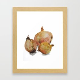 Know your onions watercolour painting Framed Art Print