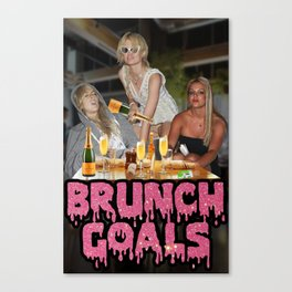 #BRUNCH GOALS Canvas Print