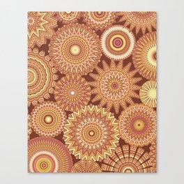 Kaleidoscopic-Canyon colorway Canvas Print