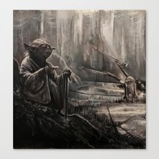 Yoda on Dagobah Canvas Print