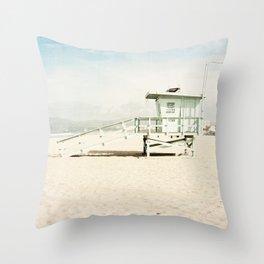 Venice Beach Tower Throw Pillow