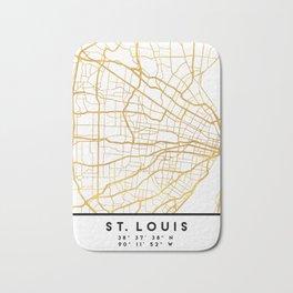 ST. LOUIS MISSOURI CITY STREET MAP ART Bath Mat