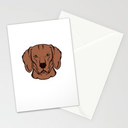 Funny Magyar Vizsla Dog head Dog gift Stationery Cards