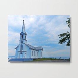 Church and Sea Metal Print