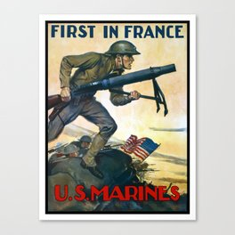 US Marines -- First In France Canvas Print