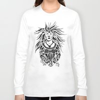 virgo Long Sleeve T-shirts featuring Virgo by Anna Shell