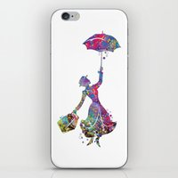 mary poppins iPhone & iPod Skins featuring Mary Poppins by Bitter Moon