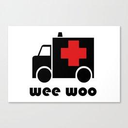 Wee Woo Ambulance Canvas Print