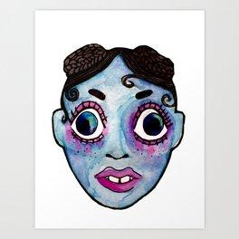 FKA Twigs watercolor face Art Print