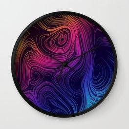 Mystic Swirls Wall Clock