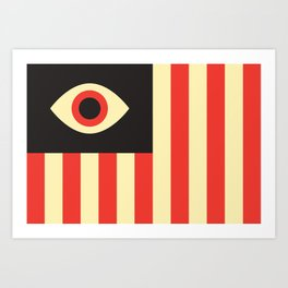 Stares and Stripes Art Print