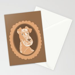 Irish Terrier Printmaking Art Stationery Cards