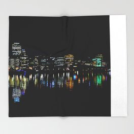 Wellington City Scape Throw Blanket
