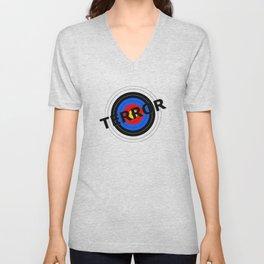 Terror Target Unisex V-Neck