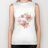 blush Biker Tanks featuring Blush by La Rosette Illustration