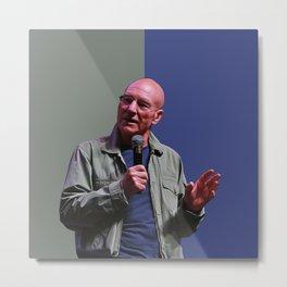 Patrick Stewart - Celebrity - Oil Paint Art Metal Print
