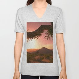 Mojave Golden Hour Unisex V-Neck