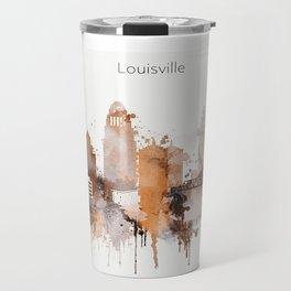 Vintage Louisville skyline design Travel Mug