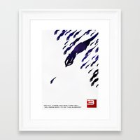 mass effect Framed Art Prints featuring Mass Effect 3 by Fabio Castro