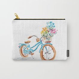 Bike with flowers Carry-All Pouch