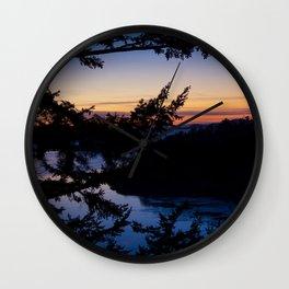 Deception Pass Sunset Wall Clock