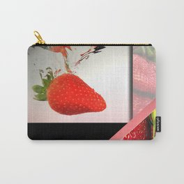 Strawberry Splash in Water Geometric Abstract Carry-All Pouch