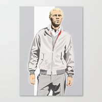 steve mcqueen Canvas Prints featuring Steve McQueen by drawgood