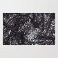 furry Area & Throw Rugs featuring furry swirl by Matthias Hennig