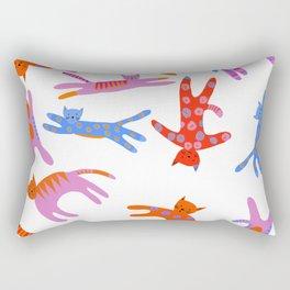 Cartwheel kitties Rectangular Pillow
