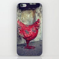 chicken iPhone & iPod Skins featuring Chicken by KunstFabrik_StaticMovement Manu Jobst