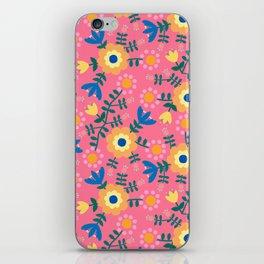 Folk Floral (pink) iPhone Skin
