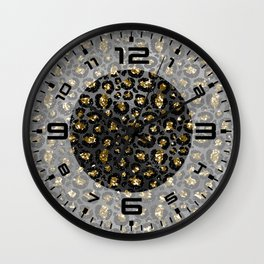 Black Gold Elegant 6 Wall Clock