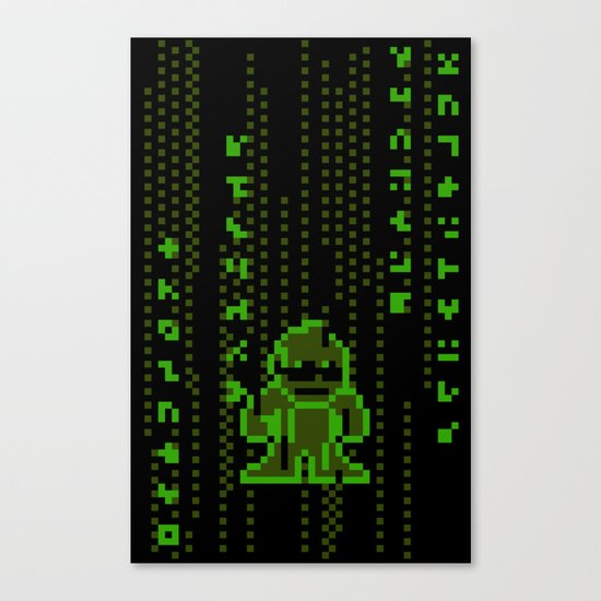 The Pixel Matrix Canvas Print