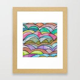 Colourful Landscape Stripes Framed Art Print
