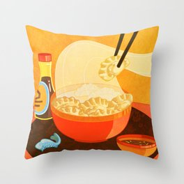 Dumpling Mania Throw Pillow
