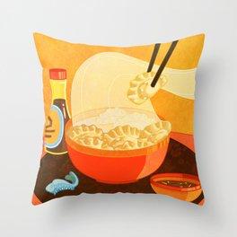 Dumpling Mania Throw Pillow