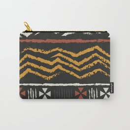 African Tribal Pattern No. 84 Carry-All Pouch