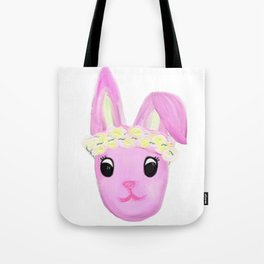 Bunny in a Flower Crown.  Tote Bag