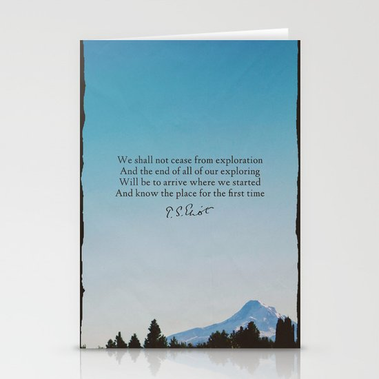T.S. Eliot: Exploration Stationery Cards