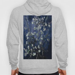 Vincent Van Gogh Almond Blossoms Dark Blue Hoody