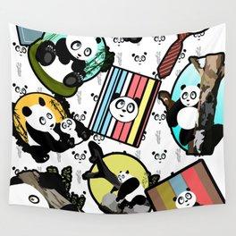 Panda Mix Wall Tapestry