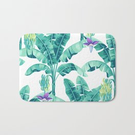 Banana leaf bloom Bath Mat