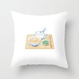 Japanese Chazuke   茶泡饭 Throw Pillow