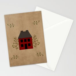 Primitive Country House Stationery Cards