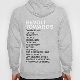 Revolt Towards (White) Hoody